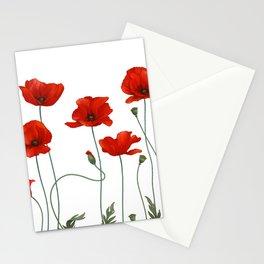 Poppy Stems Stationery Cards
