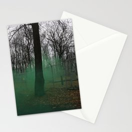 Eerie Fog in the Woods Stationery Cards
