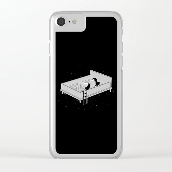 Bed for crying Clear iPhone Case