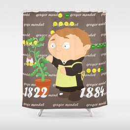 Gregor Mendel Shower Curtain