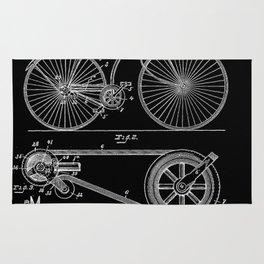 Bicycle Vintage 1890 Patent Papers Print Rug