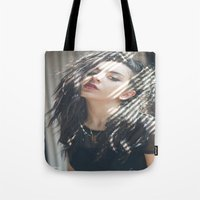 charli xcx Tote Bags featuring Superlove ~ Charli XCX by Michelle Rosario