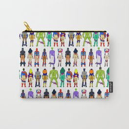 Superhero Butts - Power Couple on Violet Carry-All Pouch