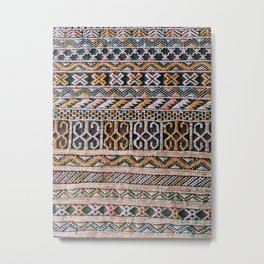 Moroccan patterned rug Metal Print