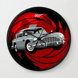 Aston Martin DB5 from Goldfinger Wall Clock