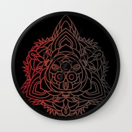 The Three Paths | Mandala Design Wall Clock