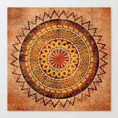 Four Dragons Mandala Canvas Print