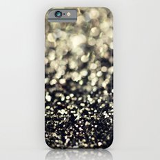 Black and Silver Glitter Slim Case iPhone 6