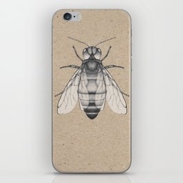 Bee pencil drawing iPhone Skin