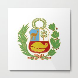 Peru Shield Metal Print