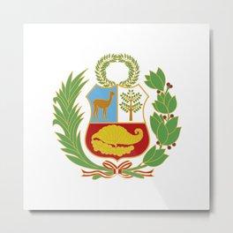 Peru Shield Metal Print