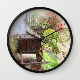 Abandoned Cart Wall Clock