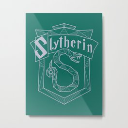 Slytherin Inspired Crest Metal Print