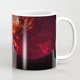 Two Deep Red Poppies Coffee Mug
