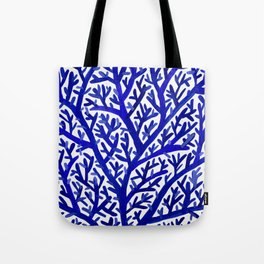 Fan Coral – Navy Tote Bag