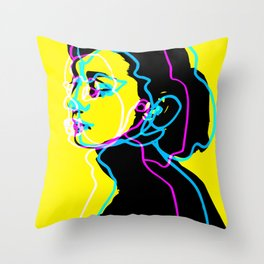 Audrey Kathleen Hepburn-Ruston Throw Pillow