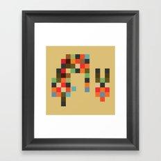 Mid Century Textile Series 1_2 Framed Art Print