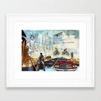 technology Framed Art Prints featuring  Transportation  technology by Design4u Studio
