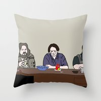 the big lebowski Throw Pillows featuring The Big Lebowski by Josh Ross Illustration