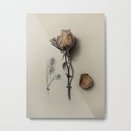 Dried Rose Metal Print