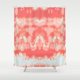 Shibori Neue Coral Shower Curtain