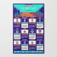 calendar 2015 Canvas Prints featuring Calendar 2015 / Geometric Nature by Adline / Szende Brassai