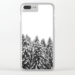 White Snow Forest No1 Clear iPhone Case