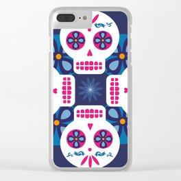 Talavera Blue Clear iPhone Case