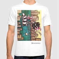 Bella Boat White MEDIUM Mens Fitted Tee