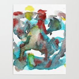 Watercolor 4351 Poster