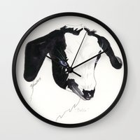 belle Wall Clocks featuring Belle by Bren Sparling