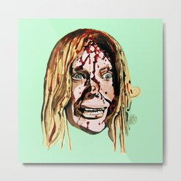 Sissy Spacek AKA Stephen King's 'Carrie' in Green. Metal Print