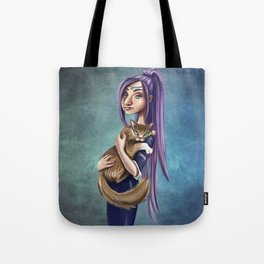 Witchcraft with a Cat Tote Bag
