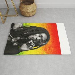 marley bob general portrait painting | Up In Smoke Fan Art Rug