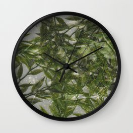 Glitter & Greens Wall Clock