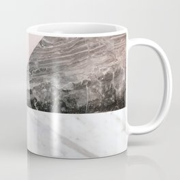 Smokey marble blend - pink and grey stone Coffee Mug