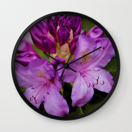 Rhododendron Wall Clock