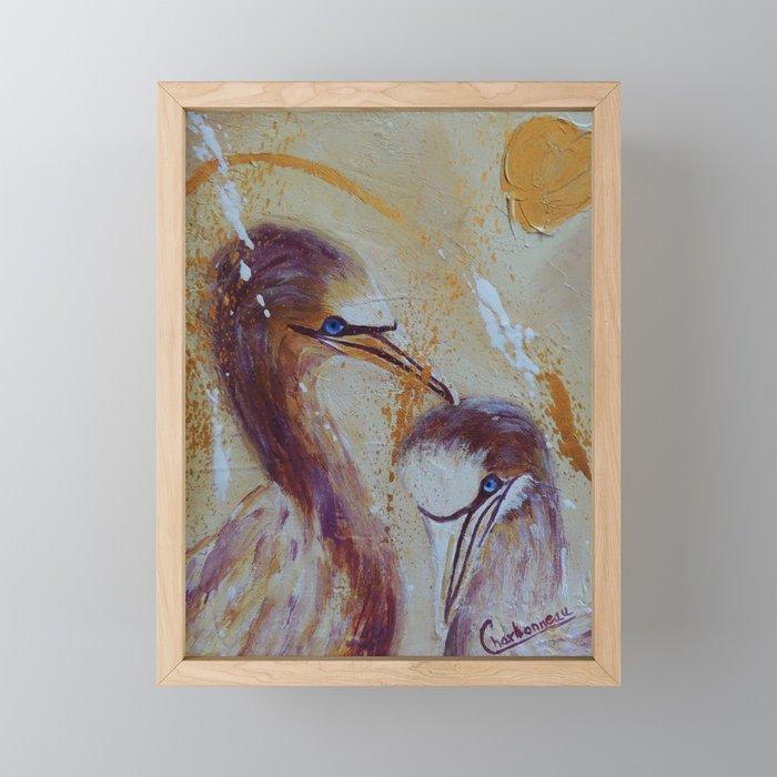 Crazy Love | Fou D'Amour Framed Mini Art Print