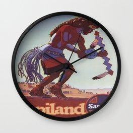 Vintage poster - Southwest U.S. Wall Clock