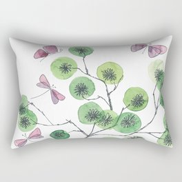 a touch of summer fragrance - white background Rectangular Pillow
