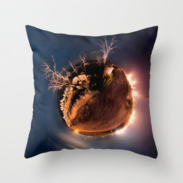 Salton Sea Polar Panoramic Throw Pillow