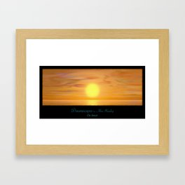 The Sunset Framed Art Print
