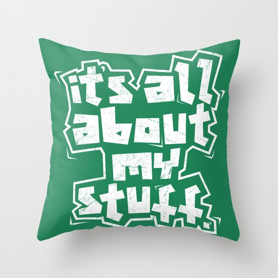 All about it. Throw Pillow
