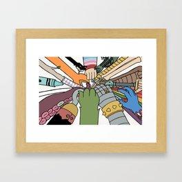 huddle Framed Art Print