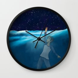 Lance drownning Wall Clock