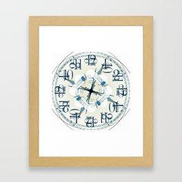 Kaleidoscope Clock by Matty Christo Photography Framed Art Print