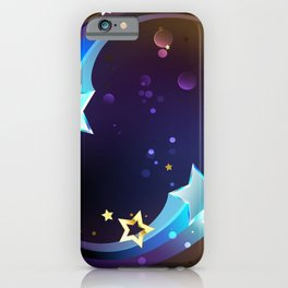 Background with Bright Comets iPhone Case