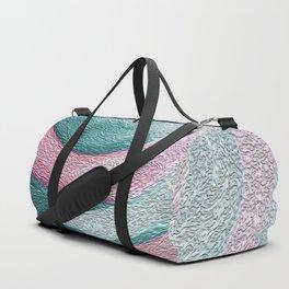Pink & Sea Blue Circles Photograph of Painting Duffle Bag