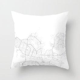 Reykjavik, Iceland Minimalist Map Throw Pillow