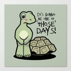 One of Those Days Naked Tortoise Canvas Print